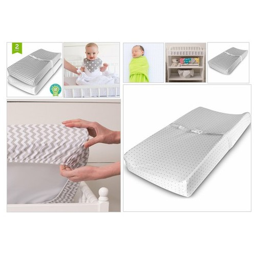 Amazon.com :  Baby Jersey Cotton 3Changing #Pad#Cover Set, Grey/White, 2 Pack  #socialselling #PromoteStore #PictureVideo @SharePicVideo