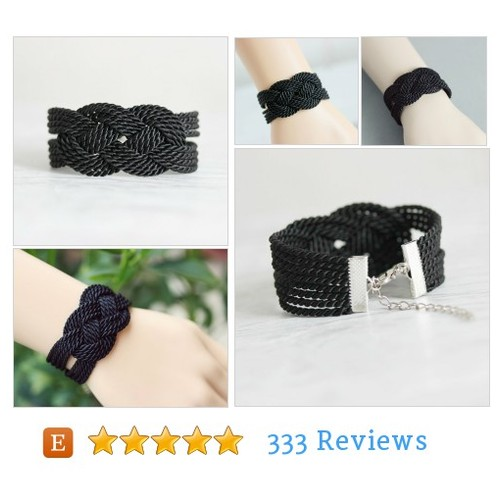 Black Knot Bracelet, Rope Bracelet, Black #Woven #Jewelry #Bracelet #etsy #PromoteEtsy #PictureVideo @SharePicVideo