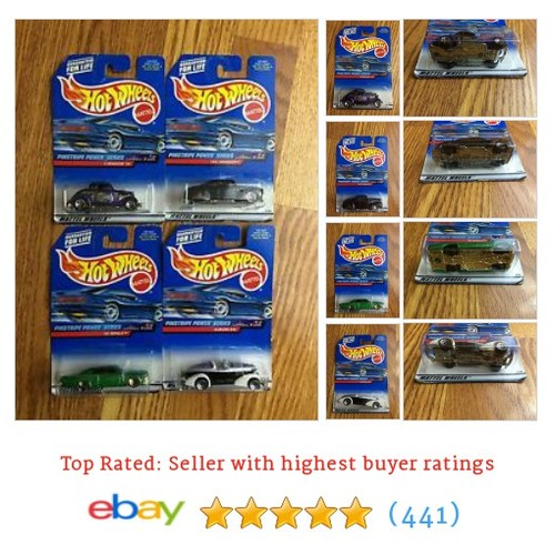 "NIP Hot Wheels 1998 ""Pinstripe Power Series"" Set of 4 Cars #ebay @marks_stuff  #etsy #PromoteEbay #PictureVideo @SharePicVideo"