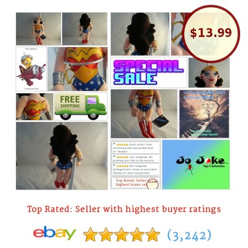 WARNER BROS STUDIO STORES- WONDER WOMAN BEAN PLUSH-OUTFIT-NEW/TAGS-1999-A FIND! #WARNERBROSSTUDIOSTORE #etsy #PromoteEbay #PictureVideo @SharePicVideo