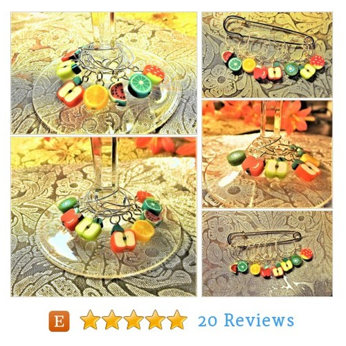 Fruity Little Wine Glass Charm Identifiers #etsy @alohelani  #etsy #PromoteEtsy #PictureVideo @SharePicVideo