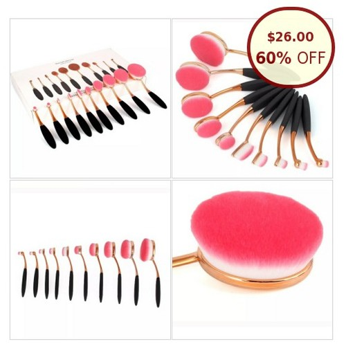 New Arrival- 10pcs Oval Pink Makeup Brushes @nellynelys58 https://www.SharePicVideo.com/?ref=PostPicVideoToTwitter-nellynelys58 #socialselling #PromoteStore #PictureVideo @SharePicVideo