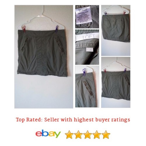 Ann Taylor Loft Olive Green Cargo #Skirt Mini Size 8 SHort Casual Chino Style #ALine #AnnTaylorLOFT #etsy #PromoteEbay #PictureVideo @SharePicVideo