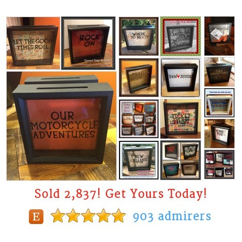 TICKET STUB Boxes Etsy shop #ticketstubbox #etsy @scrabbleetsy  #etsy #PromoteEtsy #PictureVideo @SharePicVideo