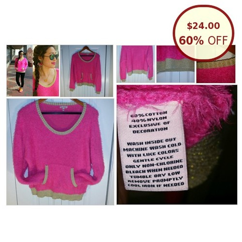 Juicy Couture Hot Pink Gold Trim Fuzzy @jaspberryhoney https://www.SharePicVideo.com/?ref=PostPicVideoToTwitter-jaspberryhoney #socialselling #PromoteStore #PictureVideo @SharePicVideo