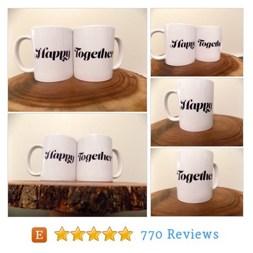 Happy Together pair of coffee mugs! #home #etsy @thriftybastards  #etsy #PromoteEtsy #PictureVideo @SharePicVideo