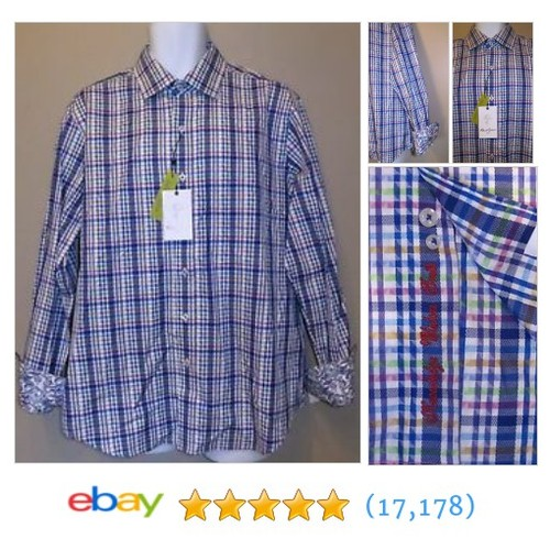 MENS LARGE ROBERT GRAHAM BLUE CHECK/PATTERN CLASSIC FIT BUTTONDOWN #ebay @themensquarters  #etsy #PromoteEbay #PictureVideo @SharePicVideo