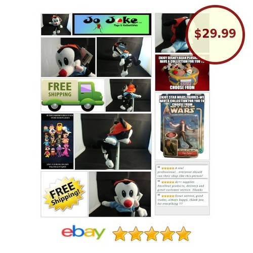 WARNER BROS STUDIO STORES-ANIMANIACS-WAKKO-BEAN PLUSH-RED BASEBALL CAP-NEW/TAGS! | eBay #WARNERBROSSTUDIOSTORE #etsy #PromoteEbay #PictureVideo @SharePicVideo
