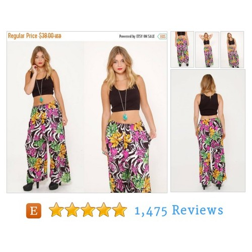 ON SALE Vintage 90s TROPICAL Print Pants #etsy @lotusvintage  #etsy #PromoteEtsy #PictureVideo @SharePicVideo