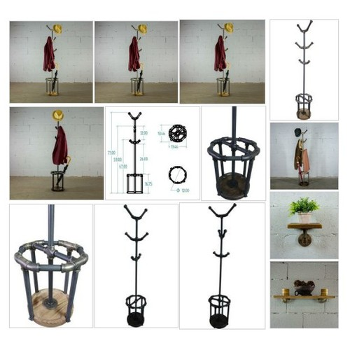 #SANANTONIO INDUSTRIAL CHIC COAT RACK . . Your order will help 7 TREES GET PLANTED in developing countries throughout the world. For each item ordered 7 trees get planted. #socialselling #PromoteStore #PictureVideo @SharePicVideo