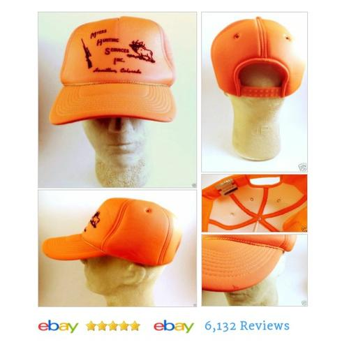 Vtg Myers Hunting Services Hamilton CO Orange Foam Trucker Ball Cap SnapBack #BaseballCap #etsy #PromoteEbay #PictureVideo @SharePicVideo