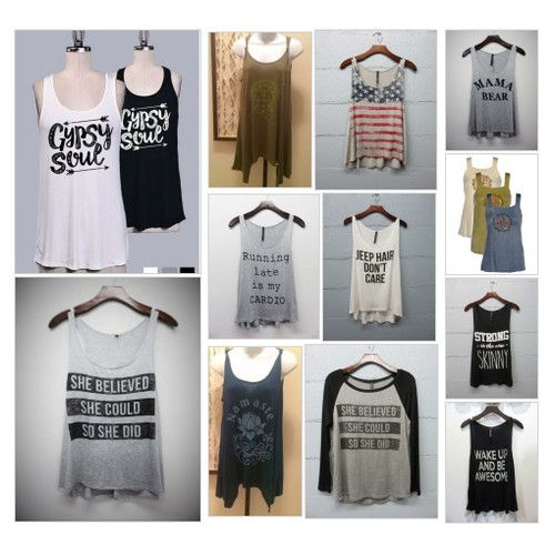 Tanks & Tee's #shopify @saymoreboutique  #socialselling #PromoteStore #PictureVideo @SharePicVideo
