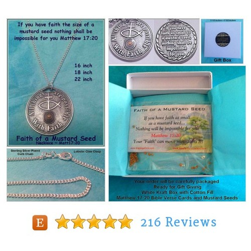 Mustard Seed Coin Necklace Religious #etsy @faithseedz https://www.SharePicVideo.com/?ref=PostPicVideoToTwitter-faithseedz #etsy #PromoteEtsy #PictureVideo @SharePicVideo