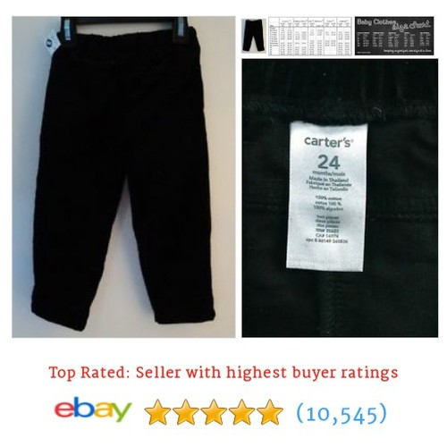 Carters Black Velvet Touch Pants for Baby Girl Size 24 Months #ebay @marytweets2013  #etsy #PromoteEbay #PictureVideo @SharePicVideo