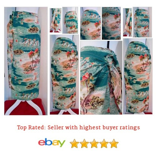 #Sarong #Wrap Skirt Handmade Multi Color Hawaiian Scene Print Size Small to Large | eBay #Skirt #etsy #PromoteEbay #PictureVideo @SharePicVideo