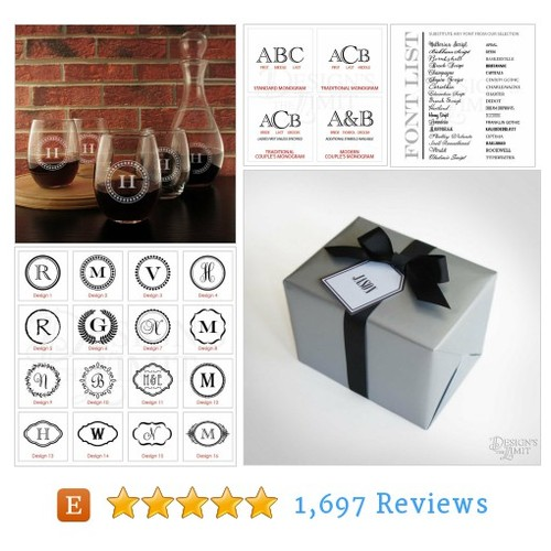 Stemless Wine Glasses Personalized with Our #etsy @designsthelimit  #etsy #PromoteEtsy #PictureVideo @SharePicVideo