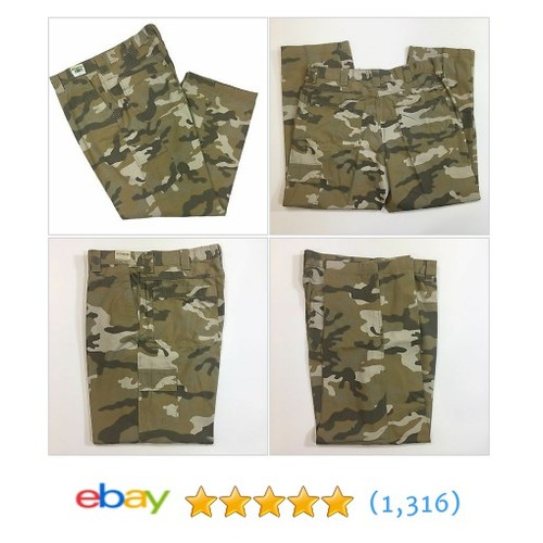 "Men's Camouflage Carpenter Pants Jeans 38""x32"" Inseam 100% Cotton  