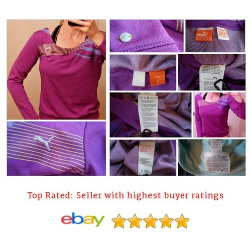 Puma #Shirt Women's Size Small Long Sleeve Purple Exercise Yoga Fitness Hiking | eBay #Top #PUMA #etsy #PromoteEbay #PictureVideo @SharePicVideo