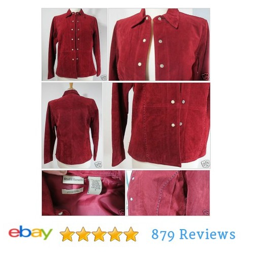 Ruff Hewn Rust Red Suede Leather Western Snaps Lined #Jacket Women's size S #Coat #RuffHewn #etsy #PromoteEbay #PictureVideo @SharePicVideo