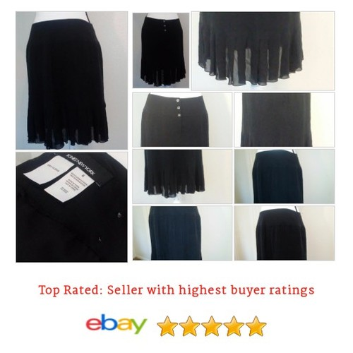#Skirt  Black 100% #Silk #Pleated #Buttons #Spring | @eBay #JonesNewYork #etsy #PromoteEbay #PictureVideo @SharePicVideo