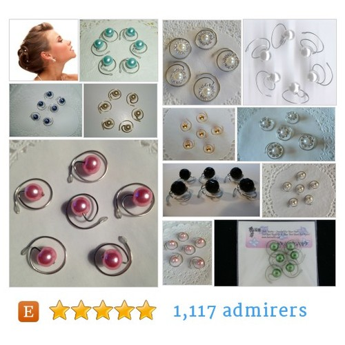 JEWELRY FOR YOUR HAIR by HairSwirls1 Etsy shop  #Pearls Pearls Pearls  What's in your hair? #etsy #PromoteEtsy #PictureVideo @SharePicVideo
