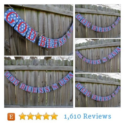 God Bless America Banner, Homecoming #etsy @artofhandmades  #etsy #PromoteEtsy #PictureVideo @SharePicVideo