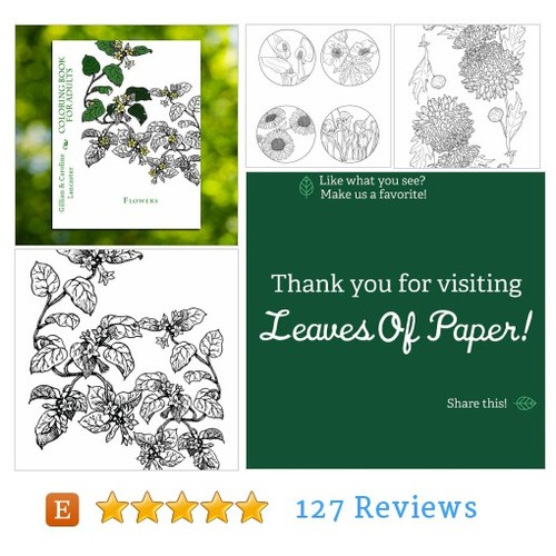 Flower Coloring #Book Download @Leaves_Of_Paper  #etsy #PromoteEtsy #PictureVideo @SharePicVideo