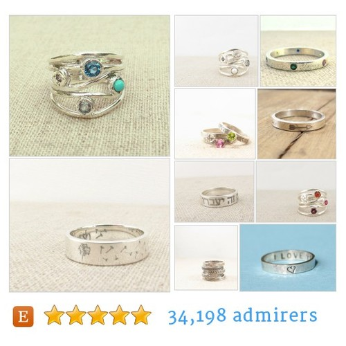 Rings Rings from Eco-Conscious Recycled Silver Jewelry by emilyjdesign Etsy shop #Ring #etsy #PromoteEtsy #PictureVideo @SharePicVideo