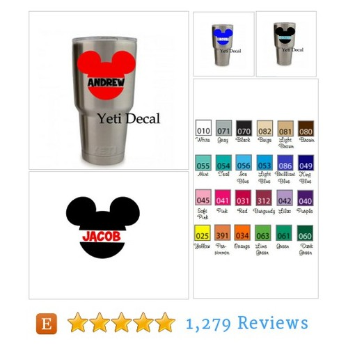 Yeti Cup Monogram Sticker Personalized #etsy @lilsoutherngra1  #etsy #PromoteEtsy #PictureVideo @SharePicVideo