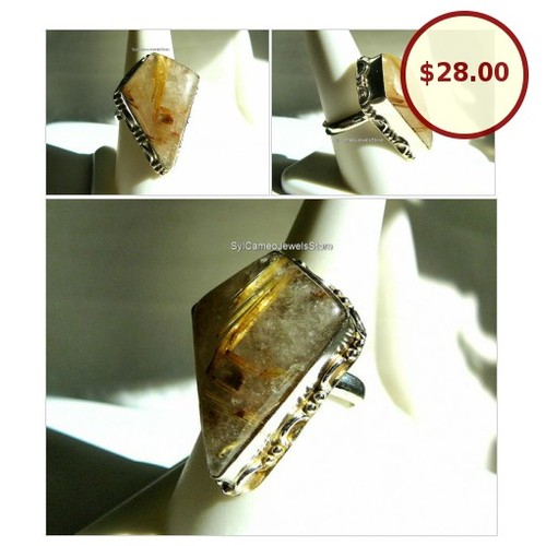 #Golden #Rutilated #Quartz #InclusionStone #SterlingSilver #Jewelry @SylCameoJewelsStore #Jewelry #StatementRing #etsyspecialt #Etsy  #etsy #PromoteEtsy #PictureVideo @SharePicVideo