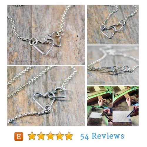 Interlocked Hearts Necklace. Dainty #etsy #PromoteEtsy #PictureVideo @SharePicVideo