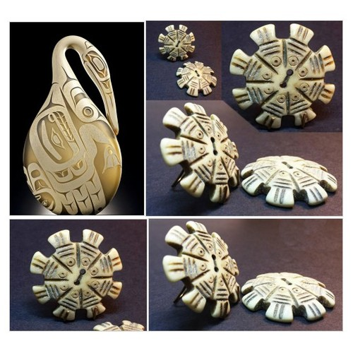 Beautiful Carved Bone Button with Tribal Ethnic Look Perfect as Pendant Natural and Stylized Carved Fish Boho Supply #etsyspecialt #integritytt #SpecialTGIF #Specialtoo  #TMTinsta        @SympathyRTs  @SpxcRTs #bonebuttons #Carvedfishbuttons #etsy #PromoteEtsy #PictureVideo @SharePicVideo