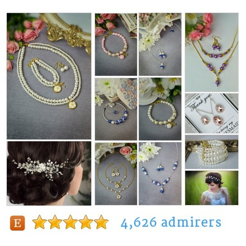 Wedding, bridesmaid jewelry by TopGracia Etsy shop @kov181  #etsy #PromoteEtsy #PictureVideo @SharePicVideo