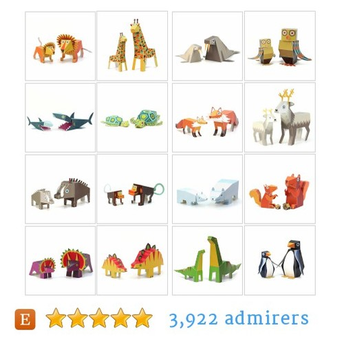 Maxi Paper Animals #etsy shop #maxipaperanimal @pukaca  #etsy #PromoteEtsy #PictureVideo @SharePicVideo