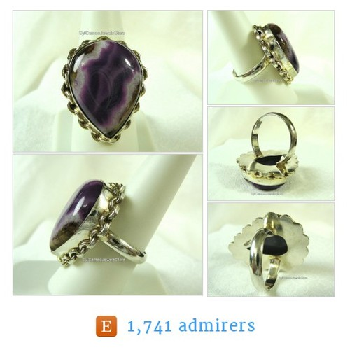 #Boho #Ring #SterlingSilver #Botswana #Agate Purple/Lavender Polished #Gemstone Sz US 10 #Jewelry #SylCameoJewelsStore #StatementRing #etsyspecialt @PromotePictures  #etsy #PromoteEtsy #PictureVideo @SharePicVideo