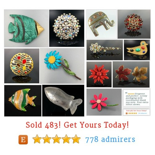 Brooches by RhinestoneByrd #etsy shop #Brooch @montecristosnc  #etsy #PromoteEtsy #PictureVideo @SharePicVideo