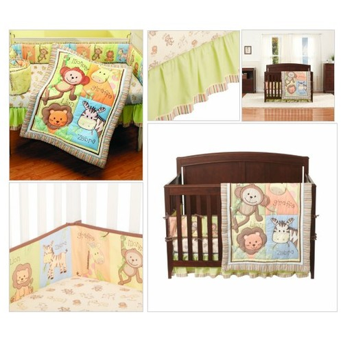 #Summer #Infant #4 #Piece #Monkey #Jungle Collection Crib Set, Neutral #socialselling #PromoteStore #PictureVideo @SharePicVideo