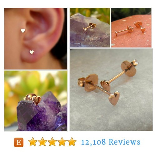 14K Solid Rose Gold Earrings - Tragus #etsy #PromoteEtsy #PictureVideo @SharePicVideo