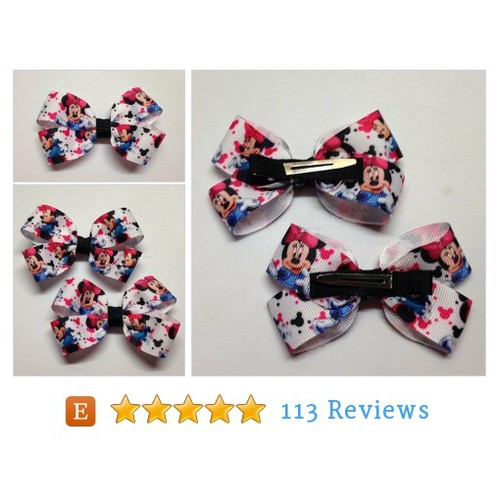 "Minnie Mouse 3"" Hair Bow Alligator Clip #etsy #PromoteEtsy #PictureVideo @SharePicVideo"