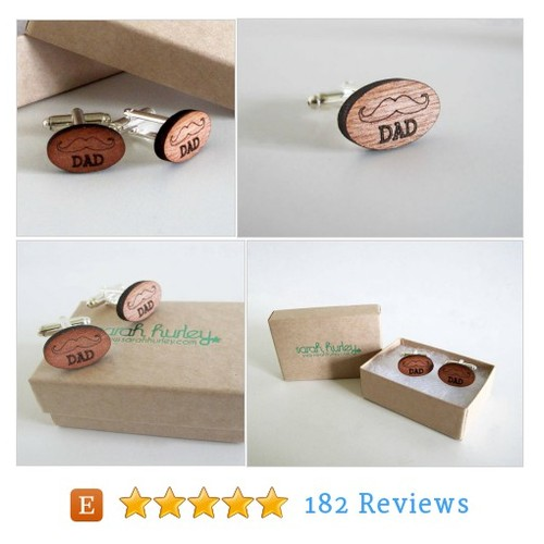Engraved Moustache 'Dad' Cufflinks #suit #etsy @scaryhurley  #etsy #PromoteEtsy #PictureVideo @SharePicVideo