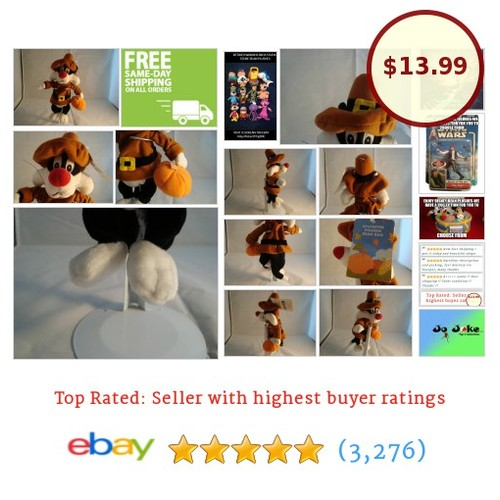 WARNER BROS STUDIO STORE-PILGRIM SYLVESTER-BEAN PLUSH-1999-RETIRED-NEW/TAGS-!!! | eBay #WARNERBROSSTUDIOSTORE #etsy #PromoteEbay #PictureVideo @SharePicVideo