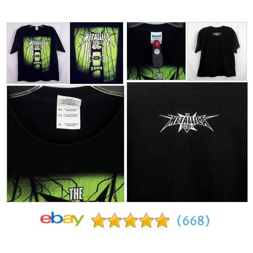 The Metallica Club MC 2009 T-Shirt Size XL 100% Cotton Black #ebay @thriftygirl2015  #etsy #PromoteEbay #PictureVideo @SharePicVideo