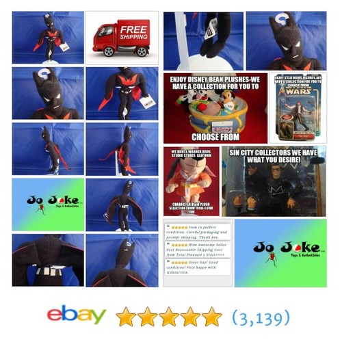 WARNER BROS STUDIO STORE-BATMAN BEYOND BEAN PLUSH-9 IN-CAPE-1999-NEW-TAGS-A FIND | eBay #WARNERBROSSTUDIOSTORE #etsy #PromoteEbay #PictureVideo @SharePicVideo