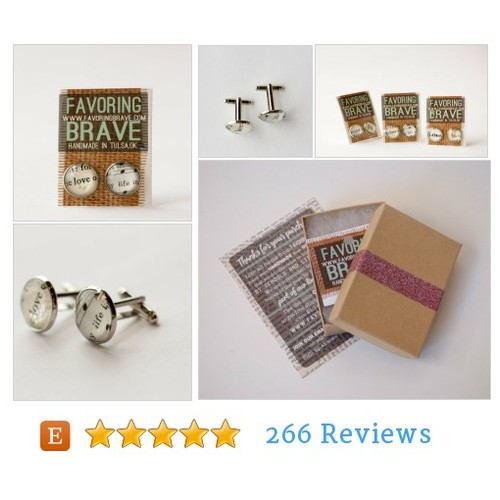 Love Life Book Page Cuff Links #cufflink #etsy @favoringbrave  #etsy #PromoteEtsy #PictureVideo @SharePicVideo