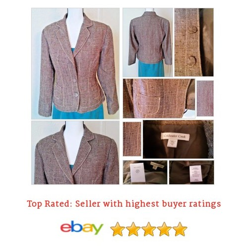 Coldwater Creek Brown Tan Tweed Lined Jacket Blazer #Suit Coat Size 10 Spring Fun | eBay #Blazer #ColdwaterCreek #etsy #PromoteEbay #PictureVideo @SharePicVideo