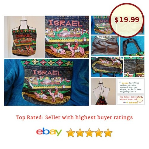 #Israel #Handbag #Beaded #VINTAGE 1970s #Tourist #Tote #Drawstring Lined | eBay #Bag #Case #auction #Rare  #etsy #PromoteEbay #PictureVideo @SharePicVideo