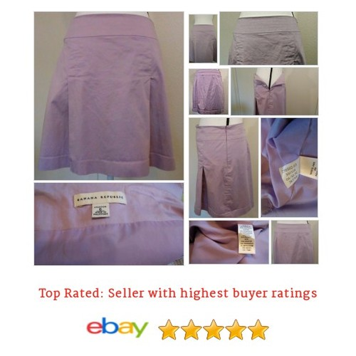 Banana Republic Lavender Cotton Spandex #Skirt Sz 6 Lined A-Line Spring Fun Short | eBay #ALine #BananaRepublic #etsy #PromoteEbay #PictureVideo @SharePicVideo