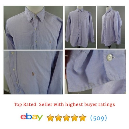Mens Polo Ralph Lauren Dress Shirt Blue Button Up Long Sleeve Lowell #ebay @powerthrift  #etsy #PromoteEbay #PictureVideo @SharePicVideo