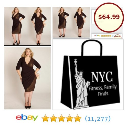 This is a sexy feminine brown dress from Igigi in the Monique style! #PlusSize #PlusSizePartyDress #BrownDress #etsy #PromoteEbay #PictureVideo @SharePicVideo