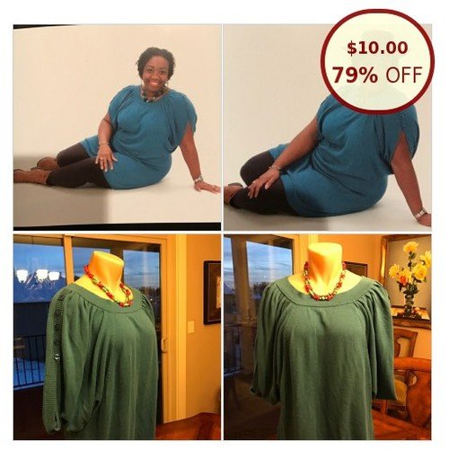 Iman Sweater Tunic Turquoise Woman's Tops @fa_marj https://www.SharePicVideo.com/?ref=PostPicVideoToTwitter-fa_marj #socialselling #PromoteStore #PictureVideo @SharePicVideo